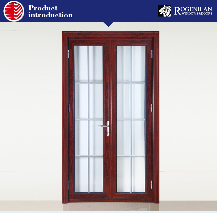 Rogenilan office interior double door with frosted glass for Office front door design