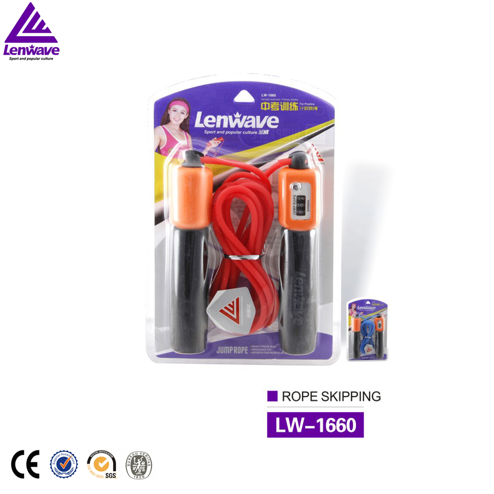 High quality black heavy electronic skipping rope