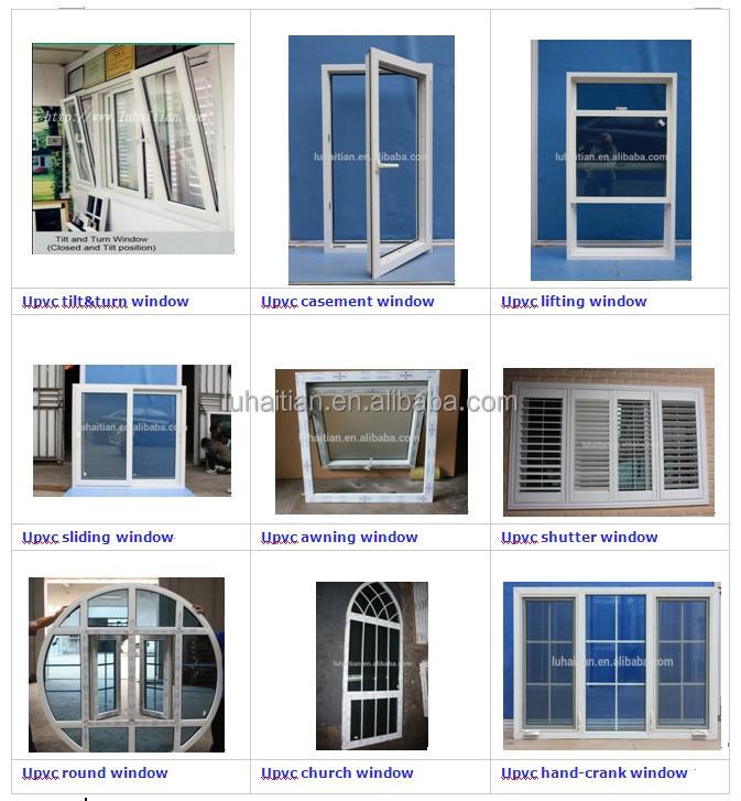 American Style Top Hung Ventilation Glass Window Pvc Hung
