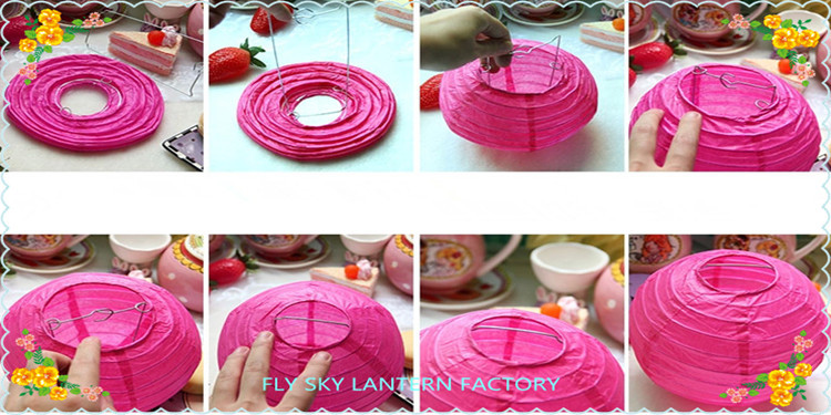 Chinese Orange Color Paper Lantern For Decoration Buy Chinese