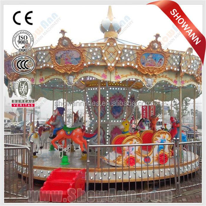 Used Amusement Carousel Horse Ride Backyard Merry Go Round