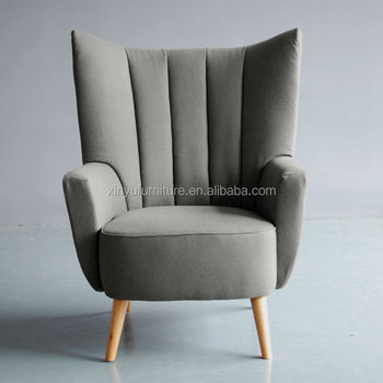 Modern High Wing Back Single Sofa Arm Chair