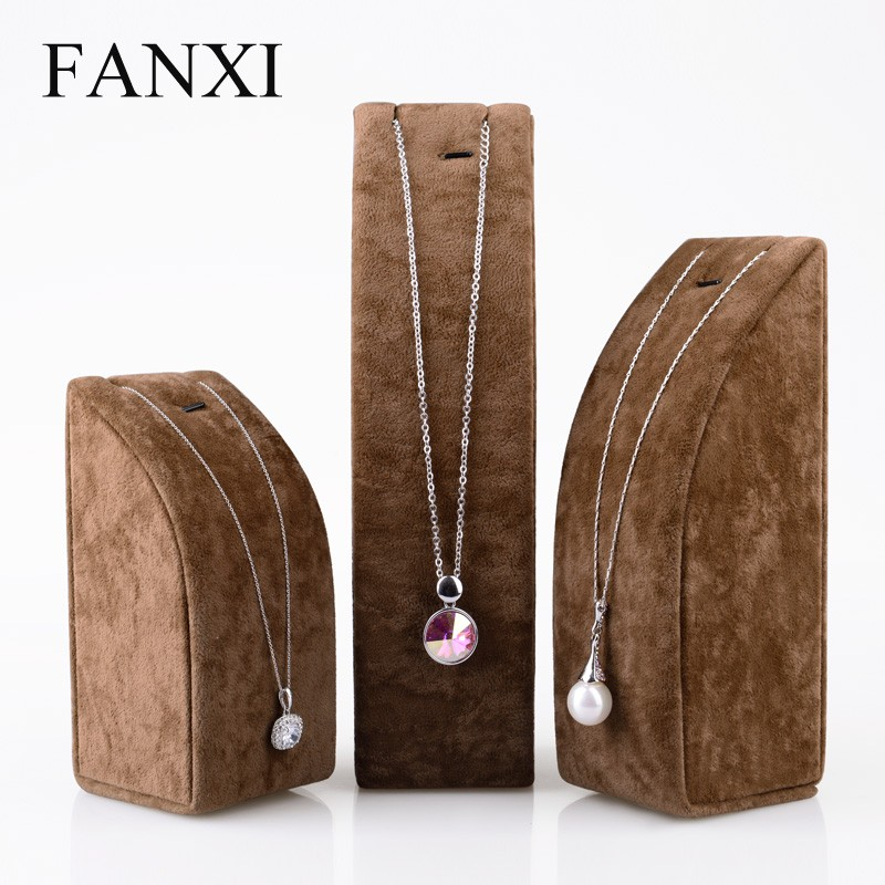 Fanxi China Supplier Custom Mdf Jewelry Display Stand Sets Holder ...