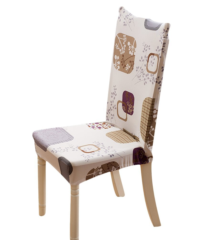 Get Quotations · Sk Stuido 4 Piece Stretch Removable Protector Flower  Printed Dining Room Chair Elegant Covers Seat Slipcovers