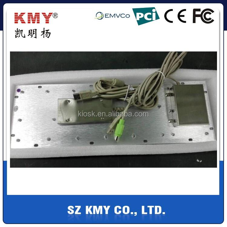 High quality vandal proof stainless steel IP65 waterproof kiosk keyboard