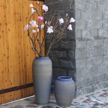 Blue Purple Contemporary Huge Floor Ceramic Vases Porcelain Bud Vase
