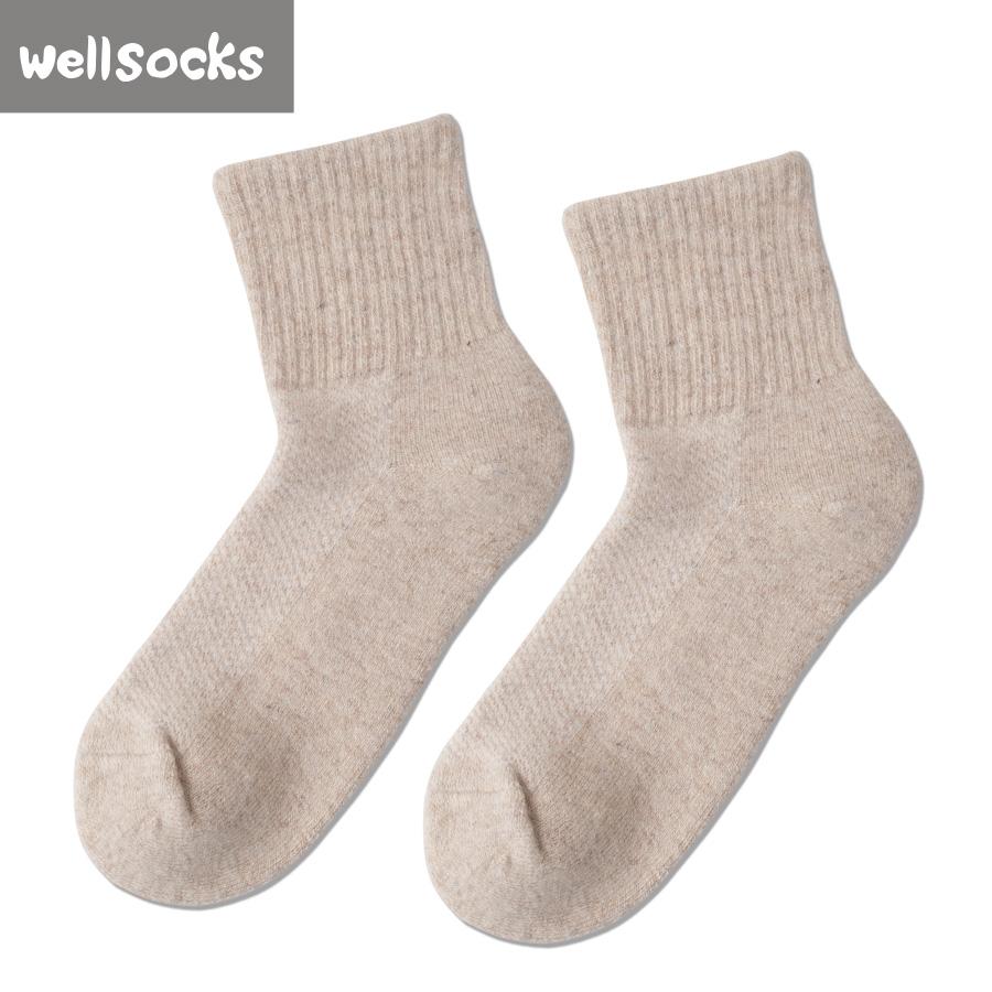 Son özel yün topuk beyaz çoraplar özel kadın