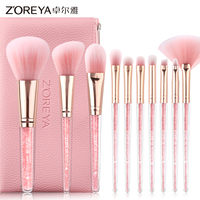 10pcs japanese makeup set professional make up brushes