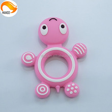 china manufacturer silicone safe baby teethers/silica gel baby teething ring/soft baby teether toys