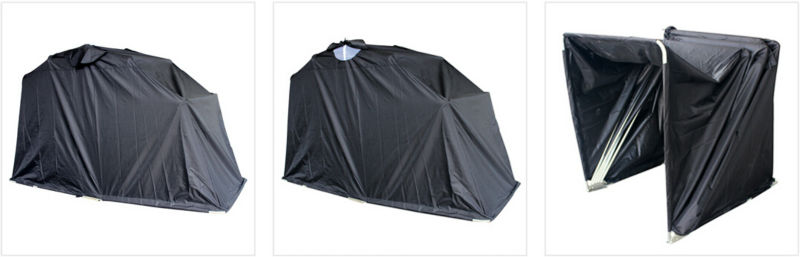 Folding waterproof fire prevention motorcycle tent - Motorcycle foldable garage tent cover ...