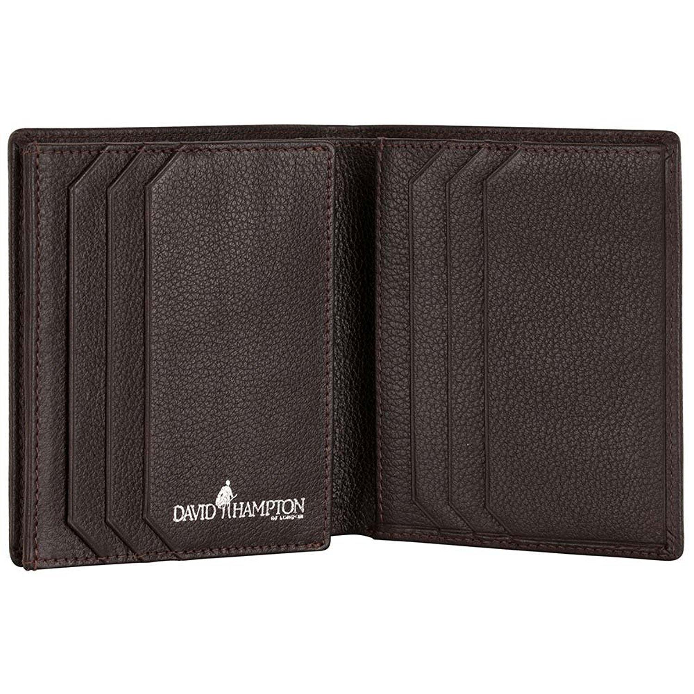 David Hampton Luxury Leather Trifold Wallet Malvern