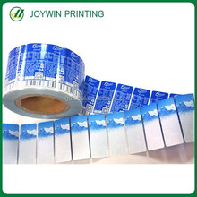 Glossy lamination adhesive vinly clear labels packaging in roll,waterproof transparent vinyl label sticker print