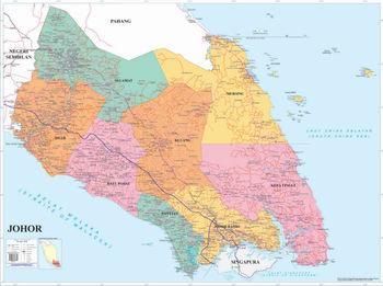 Political Map Of Johor Buy Malaysia Political Map Johor Product on