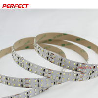 312 leds / m double row led strips , smd 2014 aluminum profile led strip light