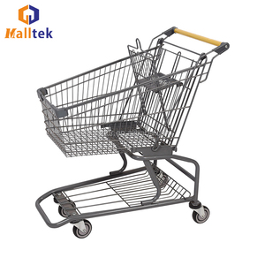 Supermarket Push Metal Shopping Cart