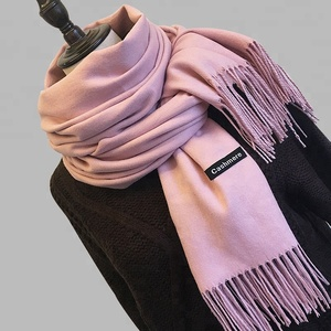 Large Soft Solid Color Womens Winter Viscose Pashmina Shawl Wrap Scarf