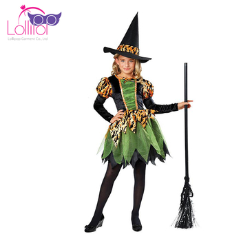 Professional custom cheap cute halloween costumes witch teenage girl halloween costume ideas