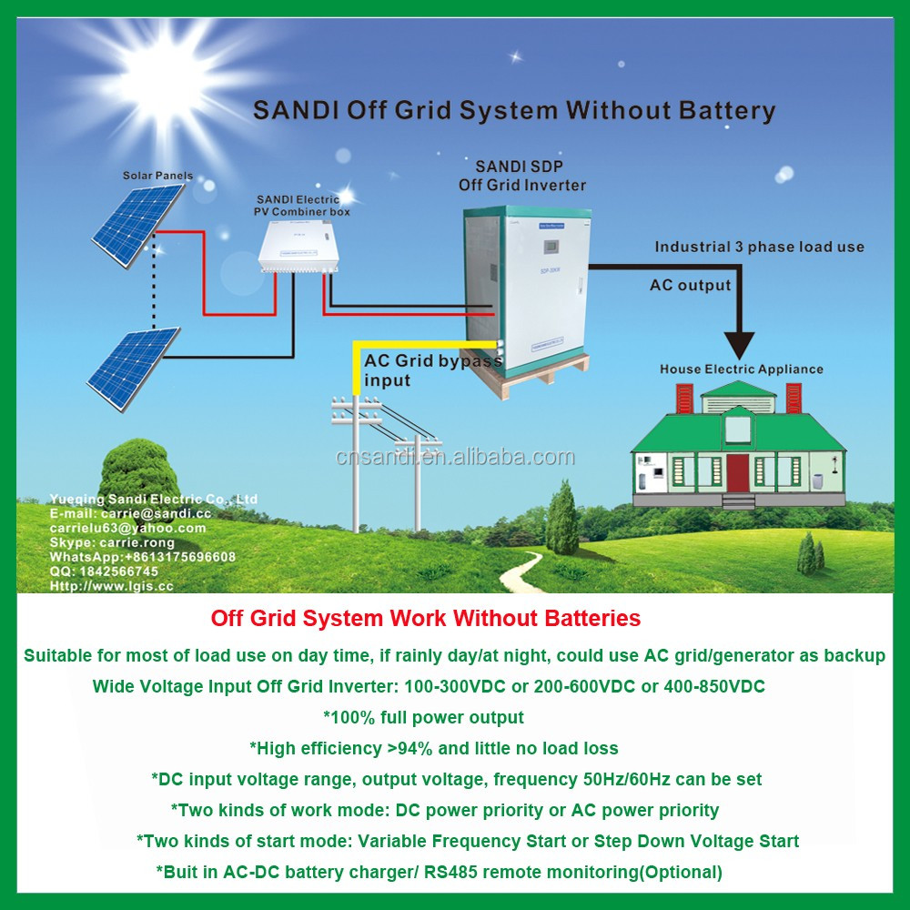 300-900vdc Wide Input Voltage Range Off Grid Inverter Without Battery For  Taking Air Conditioner These Inductive Load - Buy Off Grid Solar Inverter