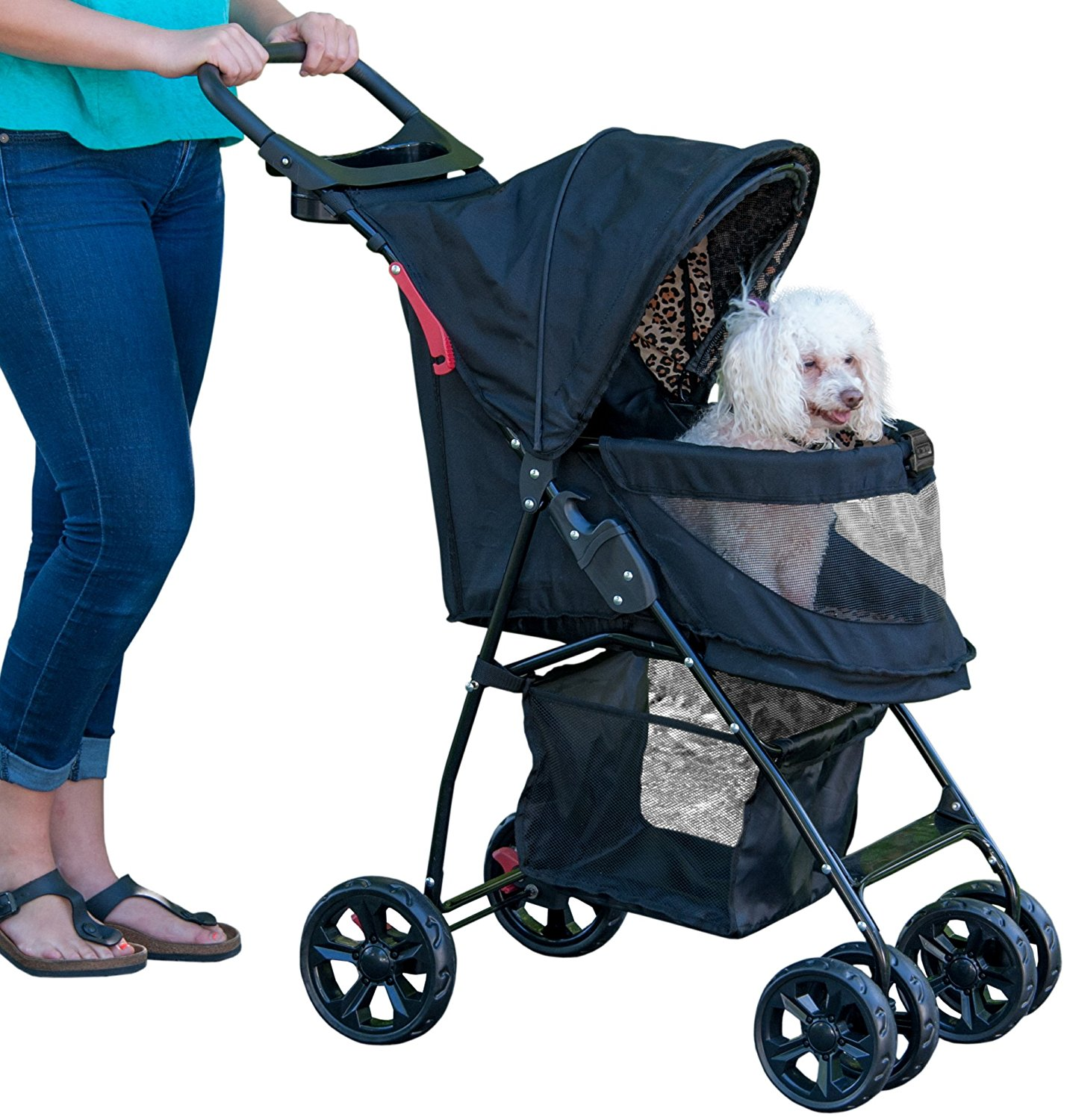 b8538a0c568 Get Quotations · Pet Gear No-Zip Happy Trails Lite Pet Stroller for Cats  Dogs