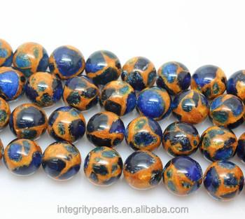 8mm Nepal Cloisonne Crystal Natural Blue Golden Gemstone Wholesale ...