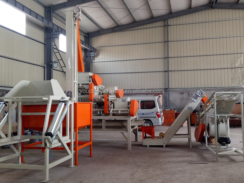 three grades automatic hazelnut almond shelling machine/almond nut cracker dehuller sheller