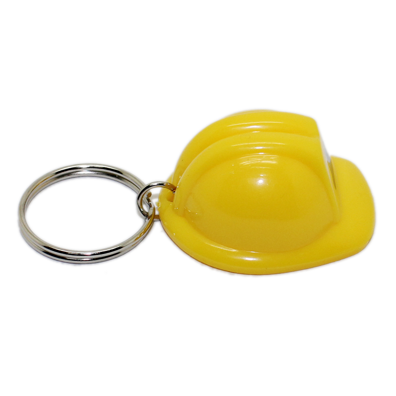Factory Supplier Promotional Custom Metal Keyring Plastic Acrylic Keychain Mini Safety Helmet Keychain