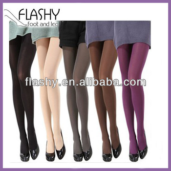 8d412e880f6ef Ladies opaque plain footed microfiber 3D fashion covered 70D 80D 100D 120D  130D tights pantyhose