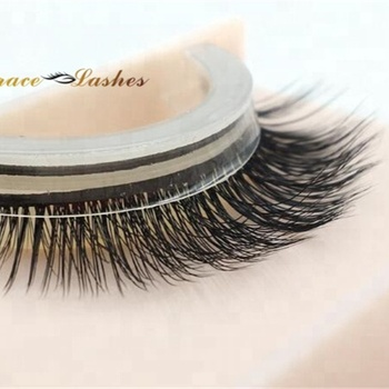No glue lashes soft band Self adhesive 3D silk eyelashes easy to wear