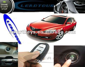 Auto Anti Theft Car Alarm Keykess Push Button Remote Start Engine And  Air Condition