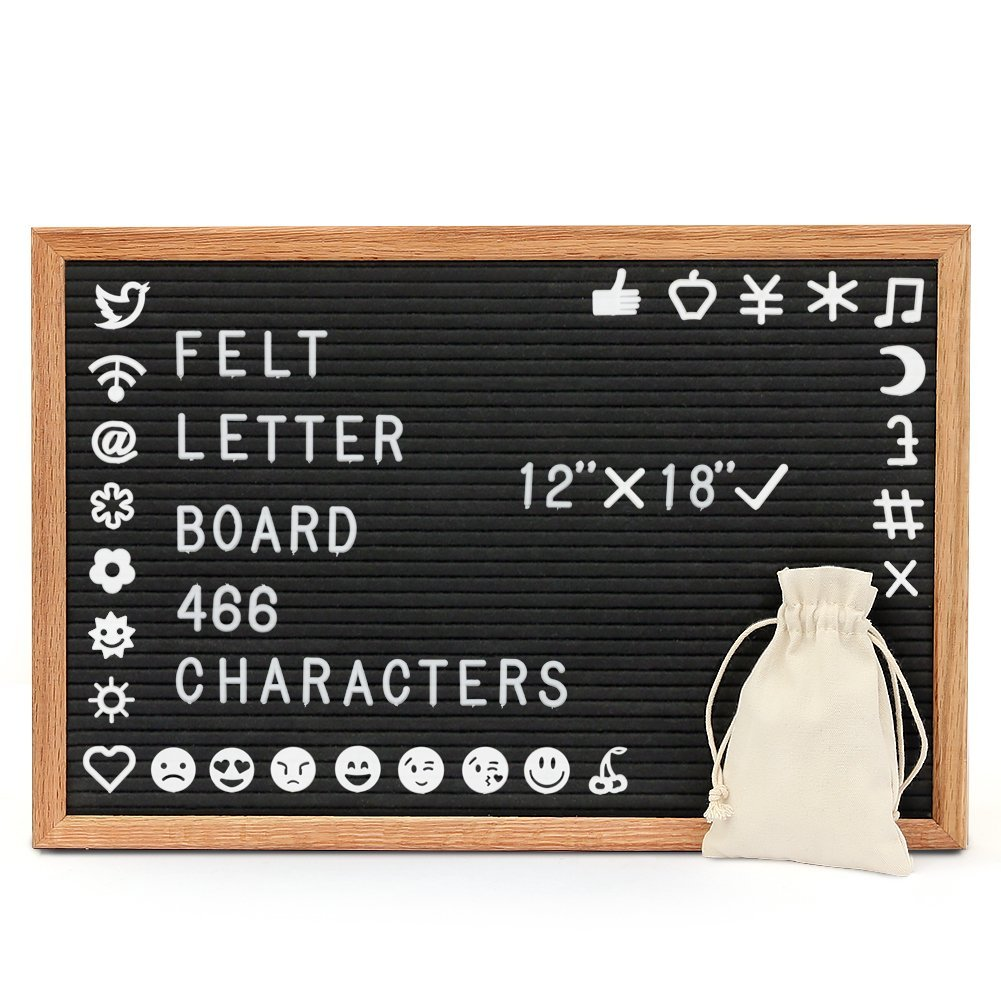 Buy Felt Letter Board Mebuyz 12 X 18 Inch Wooden Letter Board With