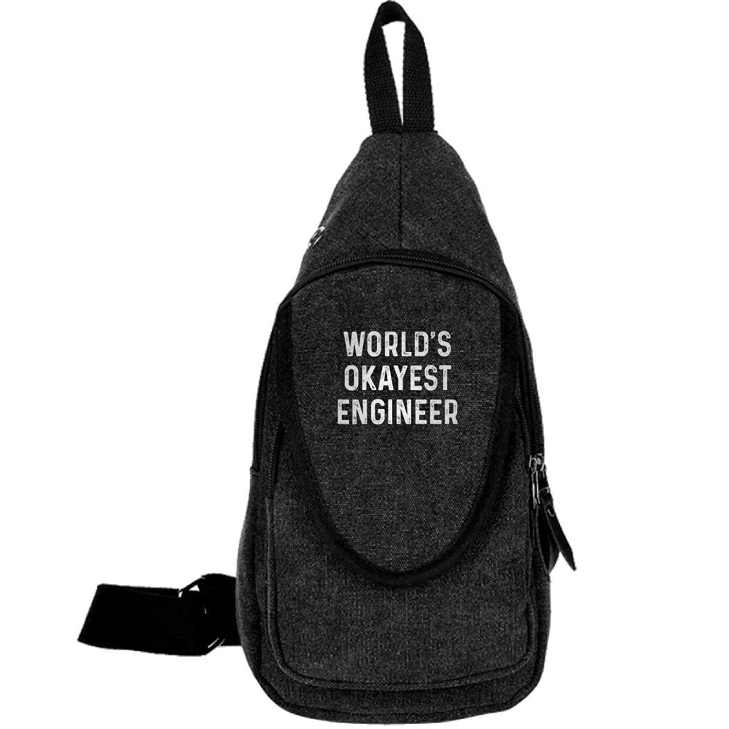 World's Okayest Engineer Fashion Men's Bosom Bag Cross Body New Style Men Canvas Chest Bags