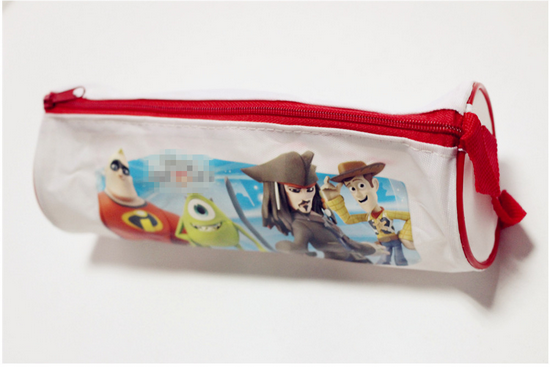Customized pencil bag with Cartoon character image Waterproof fancy pencil bag Oxford fabric
