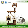 BSCI White Sisal And Plush Cat Tree Cat House And Cat Condo