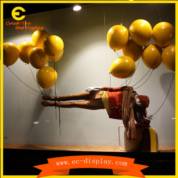 festival visual merchandising Frp Balloons for Decoration visual display props resin balloons plastic balloons decorative goods