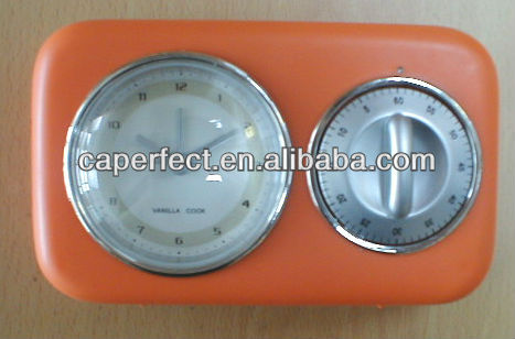 Plastic ABS Table or Wall Quartz Alarm Clock with Countdown Timer