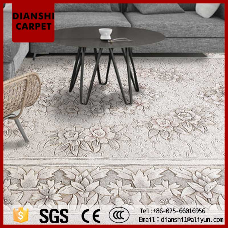 Wholesale Colorful Chinese Carved Wool Rugs 3d Rural Wind Carpet