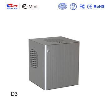 Realan Cube Aluminium Mini Itx Computer Case E-d3 (black Silver Red Gold) -  Buy Mini Itx Pc Case,Htpc Computer Case,Shenzhen Realan Computer Product