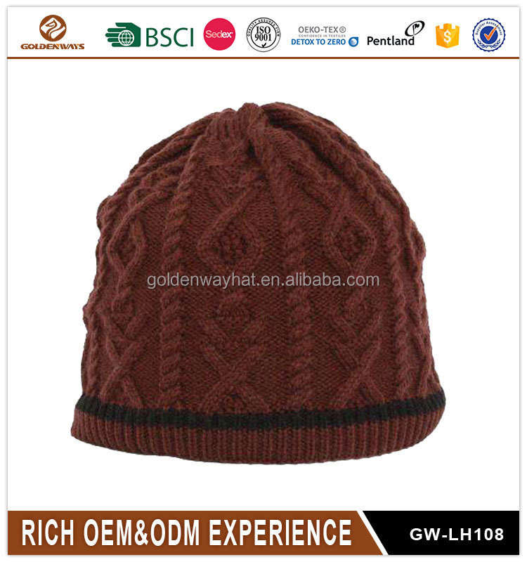 Best selling custom design 100% acrylic winter knitted hat beanie crochet hat