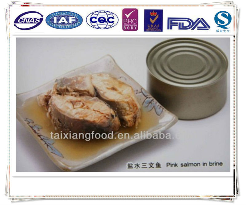 canned salmon in brine /fish canned/canned fish salmon