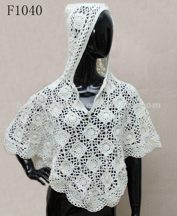Sombrero De Ganchillo Chaleco/mano Crochet Chaleco/de Las Señoras ...