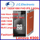original Lenovo K900 Intel Atom Z2580 Duel Core Android 4.2 5.5 inch Gorilla Glass 13mp camera 2GB RAM 16G GPS OTG Mobile phone