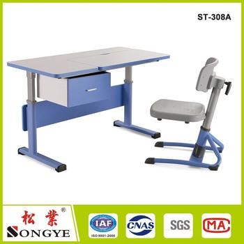 modern ergonomic kids study table and desk height adjustable school