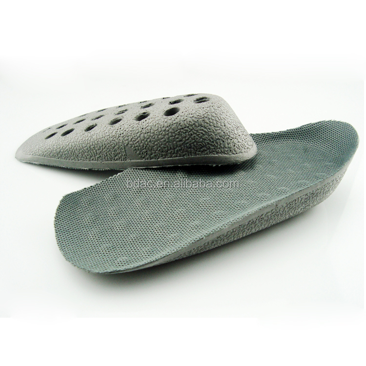 Factory price shoe taller inserts Pu foam 3/4 insole height increase increasing insole