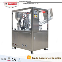 Auto the plastic-aluminum composite tubes filling sealing machine for toothpaste
