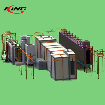 outdoor automatic complete powder coating painting line for hangers