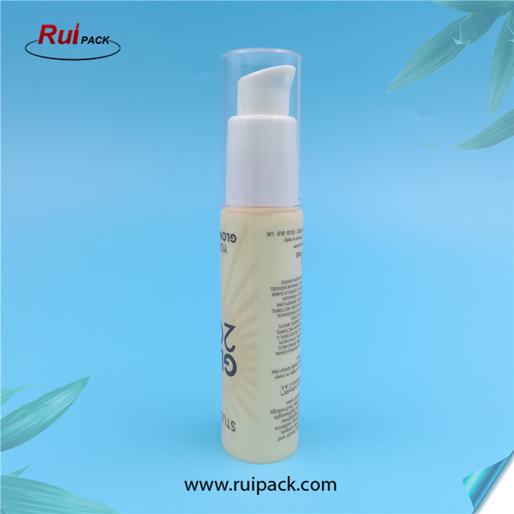25mm empty plastic packaging tube with cream pump