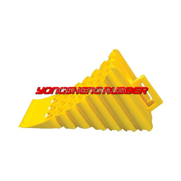 Yellow Plastic Wheel Chocks with Handle