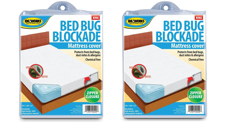 Ideaworks Bed Bug Blockade Mattress Cover- King Size Mattress (2 pack)