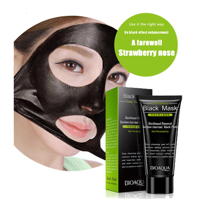 Imported From Abroad Bamboo Charcoal Black Mask Face Care Deep Cleansing Purifying Blackhead 3 Steps Black Head Remover Acne Nose Mask Treatments & Masks