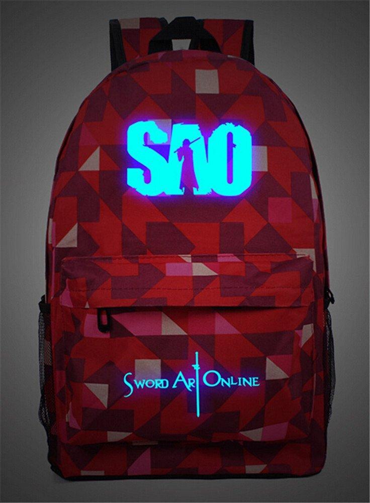5af9c20cbcd5 Buy Siawasey Anime Sword Art Online Cosplay Luminous Bookbag ...
